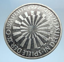 1972 Germany Munich Summer Olympic Games SPIRAL 10 Mark Silver Coin i74040