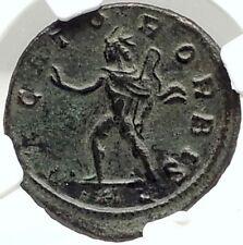 AURELIAN Authentic 275AD CONQUEST of LYONS LUGDUNUM Rare Roman Coin NGC i76297