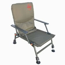 fishing chair ebay lafuma parts folding in chairs bed portable carp camping heavy duty 4 adjustable legs fc 053