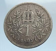 1895 AUSTRIA w KING FRANZ JOSEPH I Eagle Genuine Proof Silver Corona Coin i74354