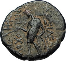 ANTIOCHOS III Megas Authentic Ancient 222BC Greek Seleukid Coin w APOLLO i67574