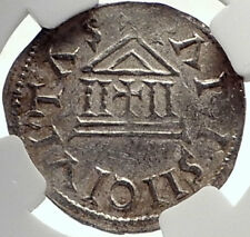 CAROLINGIAN France 840AD Silver Denier Coin of CHARLES II the BALD NGC i70023