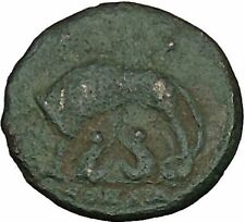 Constantine I The Great Ancient Roman Coin Romulus & Remus