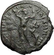 GORDIAN III & SERAPIS Marcianopolis Ancient Roman Coin APOLLO & SERPENT i71116