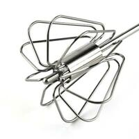 Manual Self Turning Stainless Steel Miracle Push Whisk