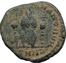 EUDOXIA Arcadius Wife 400AD Authentic Ancient Roman Coin GOD's HAND CROSS i67638