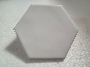 daltile white hexagonal floor wall
