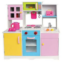 Wooden Kids Kitchen Island Table Ebay Large Girls Boys Play Role Pretend Toy Furniture