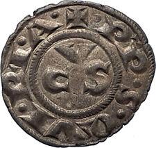 13-14th Century Medieval ITALY ANCONA City Republic Antique Silver Coin i66627