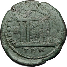 MACRINUS & DIADUMENIAN Marcianopolis Ancient Roman Coin w SERAPIS TEMPLE i71061