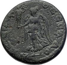 CARACALLA 198AD Thessalonica  Nike VICTORIA Cabeirus Ancient Roman Coin  i73441