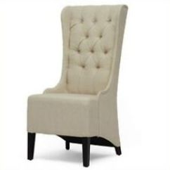 Transitional Accent Chairs Giant Cushion Chair Living Room Ebay Baxton Studio Beige Linen Modern