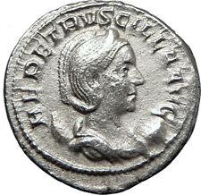 HERENNIA ETRUSCILLA 250AD Rome Ancient SIlver Roman Coin Pudicitia i70219