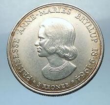 1964 DENMARK King Frederick IX Silver Princess ANNE MARIE WEDDING Coin i68529