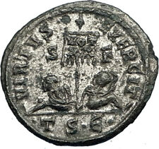 Saint CONSTANTINE I the Great Authentic Ancient 320AD Roman Coin CAPTIVES i67325