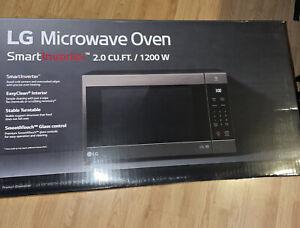 lg black stainless steel microwave