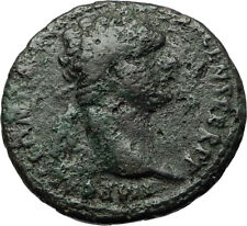 DOMITIAN Authentic Ancient 86AD Rome Genuine Original Roman Coin FORTUNA i71090