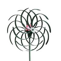 large 2 ft Kinetic wind Sculpture Modern Art Dual spinner