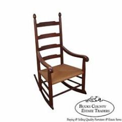 Rocking Chair Antique Styles Staples Mats For Carpet Canada Shaker Style Chairs Furniture Ebay Bench Made Solid Walnut Rocker