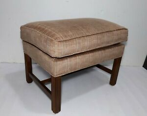 vintage ottoman in antique benches
