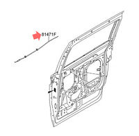 Inside Door Handle Latch Release Cable FR/LH for 15+ Kia