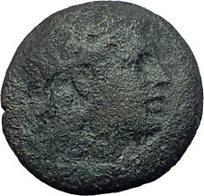 MYRINA in AEOLIS 2-1cBC Authentic Ancient Greek Coin APOLLO AMPHORA LYRE 63236