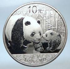 2011 CHINA Silver 10 Yuan Chinese Coin PANDA MOM w CUB & TEMPLE of HEAVEN i73910