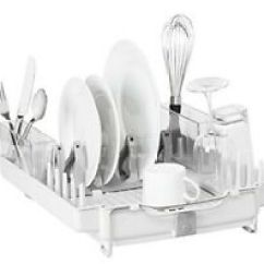 Oxo Kitchen Utensils Home Depot Storage Cabinets Gadgets Ebay Good Grips Foldaway Dishrack Dish Drainer Rack Plastic Folding