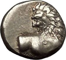 CHERSONESOS in THRACE 400BC Lion Authentic Ancient Silver Greek Coin i53576