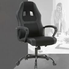 gaming chair ebay eames molded replica office chairs racing desk ergonomic computer w lumbar support