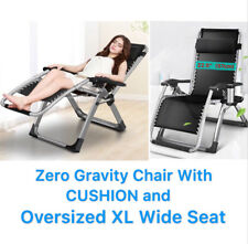 xl zero gravity chair with canopy sliding pillow folding side table hickory sleeper sofas ebay four seasons w cushion oversized extra wide seat 22 5