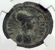 CARACALLA Authentic Ancient ROMAN City Ilium on TROY Site Coin ATHENA NGC i72624