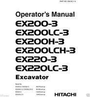 Hitachi EX200-3 EX200LC-3 EX200H-3 EX200LCH-3 Excavator