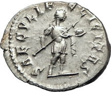 GORDIAN III w spear and globe 242AD Authentic Silver Ancient Roman Coin i73546