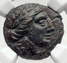 LARISSA Thessaly Ancient THESSALIAN LEAGUE Greek Coin APOLLO ATHENA NGC i72735