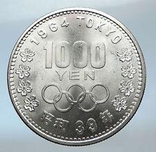 1964 JAPAN Tokyo Summer Olympic Games 3.5cm Silver Japanese MT FUJI Coin i73973
