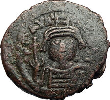 MAURICE TIBERIUS 582AD Cyzicus Follis Authentic Ancient Byzantine Coin i71272