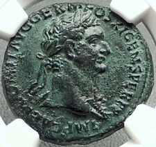 DOMITIAN 85AD Virtus Valor Quality Authentic Ancient Roman Coin Rome NGC i68613