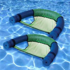Chair Pool Floats Bed Uk Rafts Ebay Robelle Noodle Swimming Float Sling Green 2 Pack