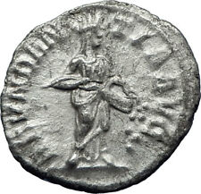 SEVERUS ALEXANDER 229AD Authentic Ancient Silver Roman Coin ABUNDANTIA i70373