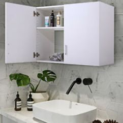 Kitchen Wall Mounted Cabinets Rugs Sets Garage Cupboards Ebay White Mount Storage Cabinet Laundry Bathroom Shelf Unit 2 Door