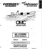 1989 OMC / JOHNSON / EVINRUDE 65 COMMERCIAL PARTS MANUAL