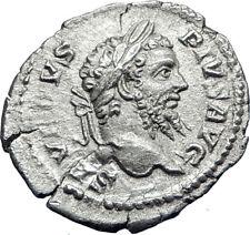 SEPTIMIUS SEVERUS 210AD Rome Authentic Ancient Silver Roman Coin SALUS i70061