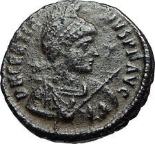 GRATIAN on Ship w Victory Authentic Ancient Genuine 378AD Roman Coin i67578
