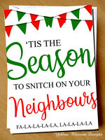 Funny Christmas Cards For Neighbours : funny, christmas, cards, neighbours, Handmade, Personalised, Christmas, Friend, Family, Sister, Neighbours