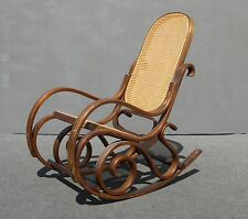 rocking chair antique styles steel joints chairs ebay vintage mid century modern thonet style cane bentwood