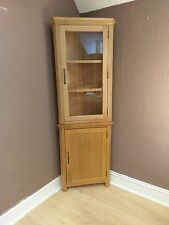 corner cabinets for living room ikea rooms ideas oak ebay toronto solid tall display cabinet cupboard 61cm 34cm 180cm