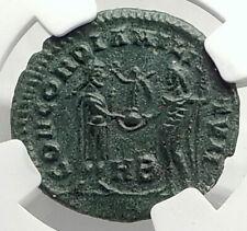 GALERIUS as Caesar w Jupiter Authentic Ancient 295AD Roman Coin NGC i76321