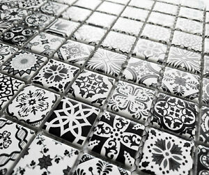 black and white wall tiles for sale ebay