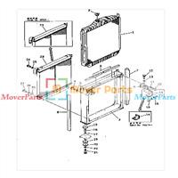 Water Tank Radiator 2452U412S1 For Kobelco Excavator